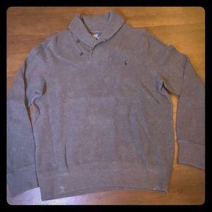Gray Polo Sweater - L